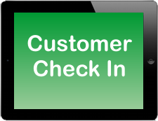 Customer Check In App on Apple iPad